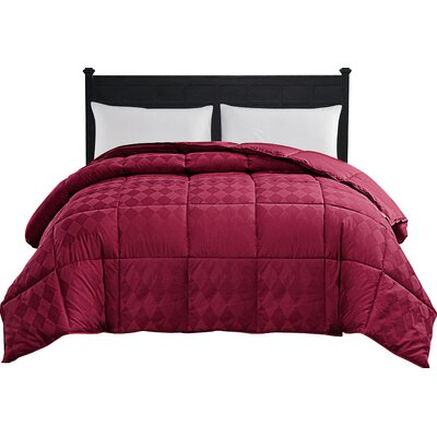 Oakley Down Alternative Comforter Color: Red, Size: King