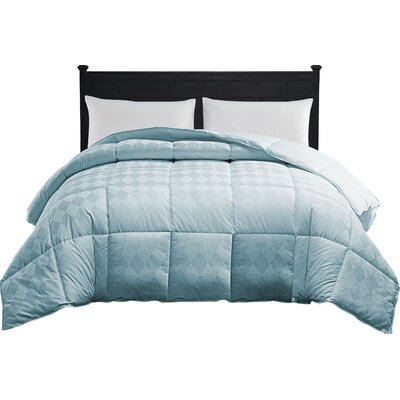 Oakley Down Alternative Comforter Color: Spa Blue, Size: Queen