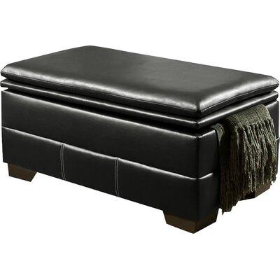 Simmons Upholstery Merriwood Storage Ottoman Upholstery: Onyx