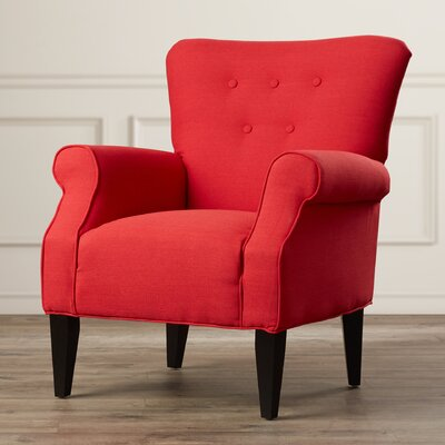 Manz Button Back Armchair Upholstery: Lipstick Red