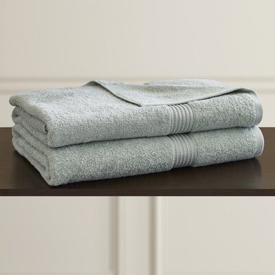 Patric 2 Piece Bath Sheet Set Color: Sage