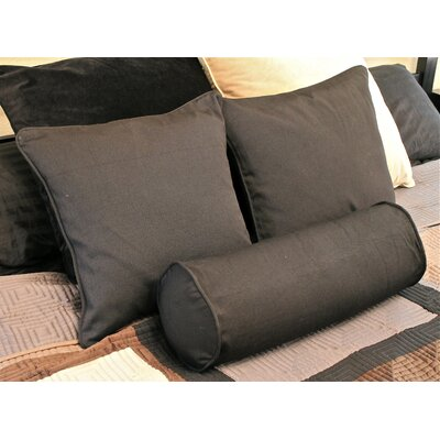 Barkbridge 3 Piece Solid Package Indoor/Outdoor Throw and Bolster Pillow Set Color: Rust