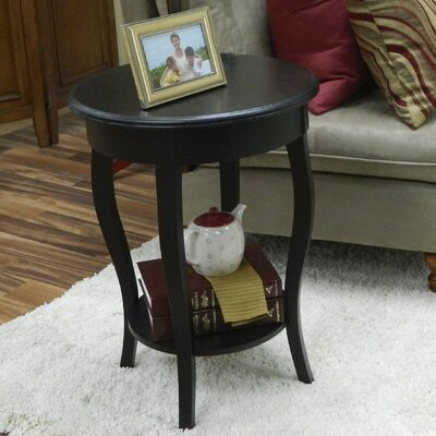 Ballyclarc Chairside Table Color: Antique Black