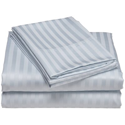 Buford 300 Thread Count 100% Cotton Sheet Set Color: Light Blue, Size: Queen