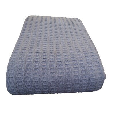 Parkstone Waffle Cotton Blanket Size: Twin, Color: Gray