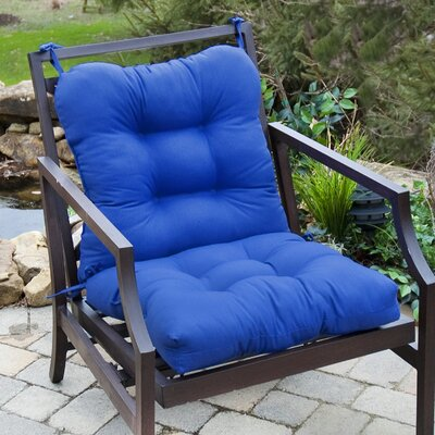 Outdoor Lounge Chair Cushion Fabric: Marine Blue