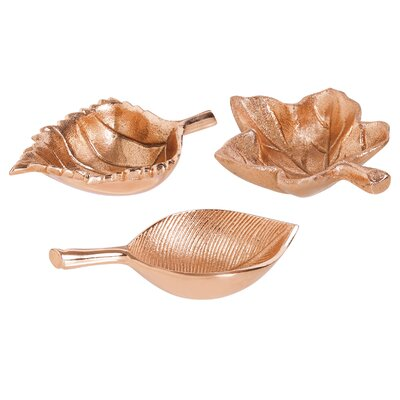 3 Piece Leaf Shaped Bowl Set