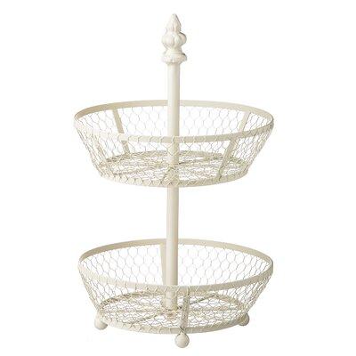 2-Tiered Metal Basket