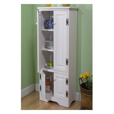 Vivian 4 Door Accent Cabinet Finish: White