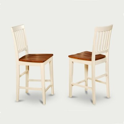 Givens Dining Chair (Set of 2) Finish: Mahogany, Seat: Wood