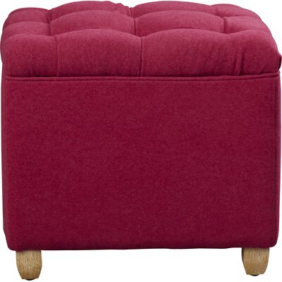 Eau Claire Ottoman Upholstery: Berry