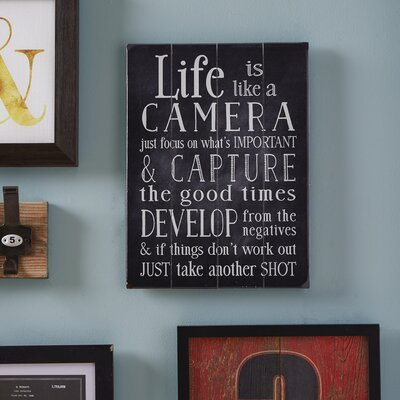 Life is Like a Camera Wall Decor