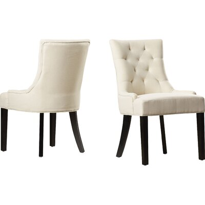 Grandview Side Upholstered Dining Chair Upholstery Type: Fabric - Beige