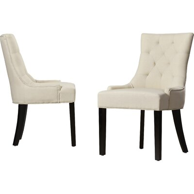Grandview Parsons Chair Upholstery Type: Fabric - Beige