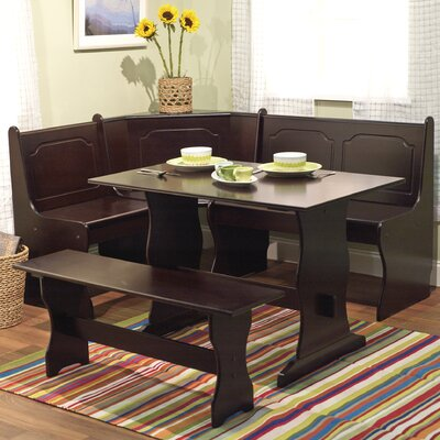 Delano 3 Piece Dining Set Finish: Espresso