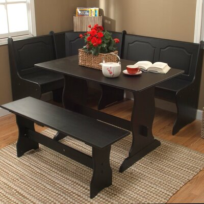Gosselin 3 Piece Dining Set Finish: Black