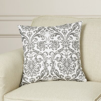 Cernobbio Cotton Throw Pillow Color: Storm Gray, Size: 18 H x 18 W