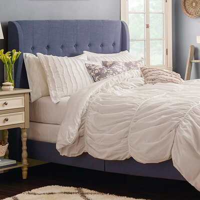 Merrin Upholstered Panel Bed Size: Full, Upholstery: Navy