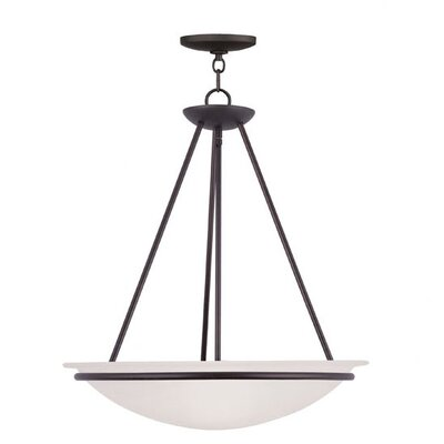 Larchmont Inverted Pendant Size: 30 H x 28 W, Finish: Brushed Nickel
