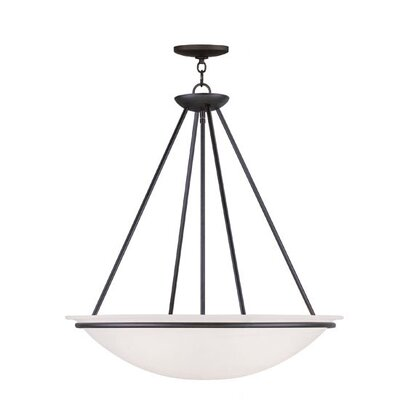Larchmont Inverted Pendant Finish: Brushed Nickel, Size: 26 H x 24 W