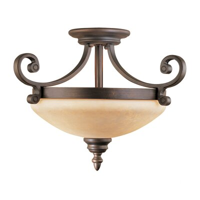 Hambleden 2-Light Semi-Flush Mount