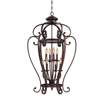 Furniture-Hambleden 8 Light Foyer Pendant Size 40 W x 23 D