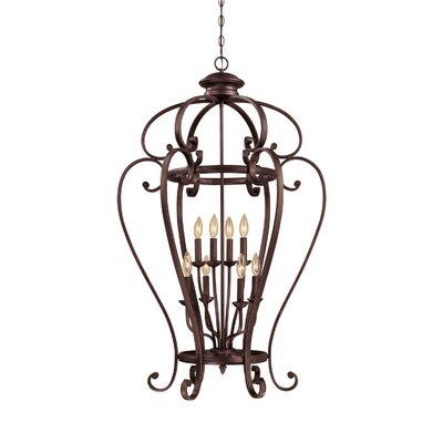 Hambleden 8-Light Foyer Pendant Size: 44 H x 27 W