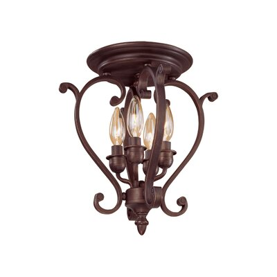 Hambleden 4 Light Semi-Flush Mount