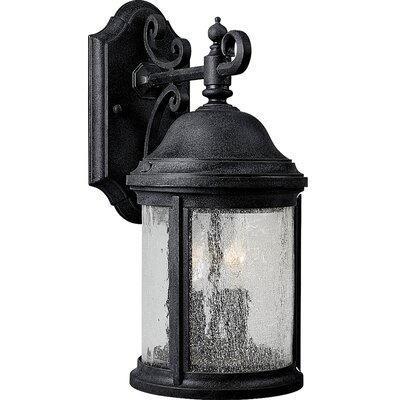 Drumakeely 2-Light Outdoor Wall Lantern Finish: Black
