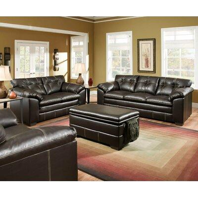 Simmons Upholstery Merriwood Sofa Upholstery: Chocolate