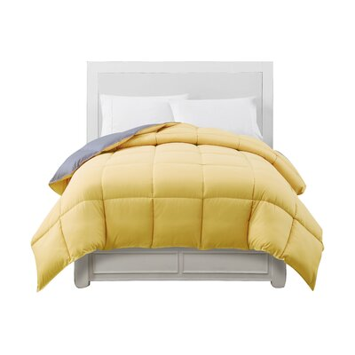 Caribbean Joe Comforter Color: Gray/Yellow, Size: King