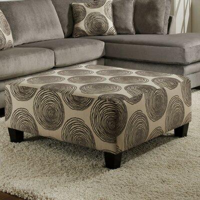 Leesburg Big Swirl Cocktail Ottoman Upholstery: Smoke