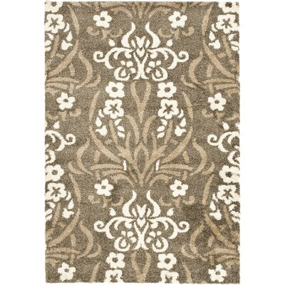 Beechwood Beige Shag Smoke Area Rug Rug Size: Rectangle 8 x 10