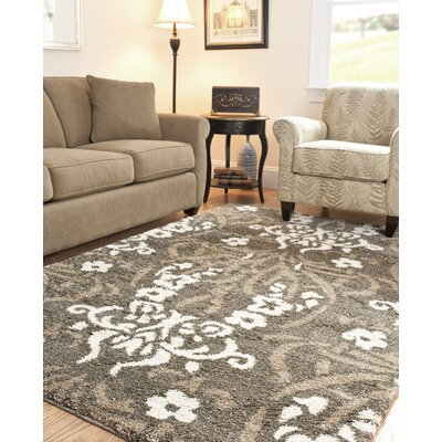 Beechwood Beige Shag Smoke Area Rug Rug Size: Rectangle 86 x 12