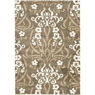 Beechwood Beige Shag Smoke Area Rug Rug Size: Rectangle 53 x 76