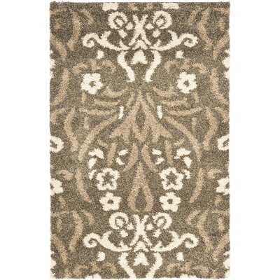 Beechwood Beige Shag Smoke Area Rug Rug Size: Rectangle 33 x 53