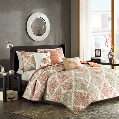 6 Piece Reversible Coverlet Set Color: multi, Size: King / California King
