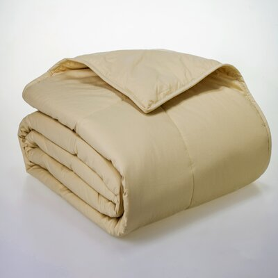 Syracuse All Natural Down Alternative 100% Cotton Filled Blanket Size: Twin, Color: Wheat