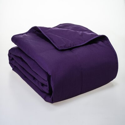 Syracuse All Natural Down Alternative 100% Cotton Filled Blanket Size: Full / Queen, Color: Plum