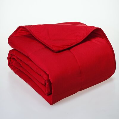 Syracuse All Natural Down Alternative 100% Cotton Filled Blanket Size: Full / Queen, Color: Scarlet