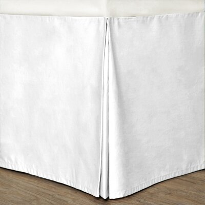 Syracuse Colors Bed Skirt Size: Twin, Color: White