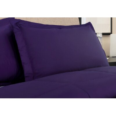 Oliver Colors All Natural 100% Cotton Pillow Sham Size: King, Color: Fig