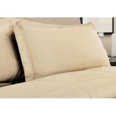 Oliver Colors All Natural 100% Cotton Pillow Sham Size: King, Color: Wheat