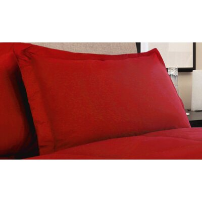 Oliver Colors All Natural 100% Cotton Pillow Sham Size: Standard, Color: Scarlet