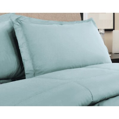 Oliver Colors All Natural 100% Cotton Pillow Sham Size: Standard, Color: Blue