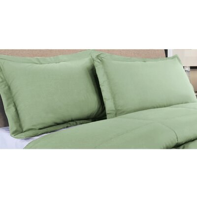Oliver Colors All Natural 100% Cotton Pillow Sham Color: Sage, Size: King
