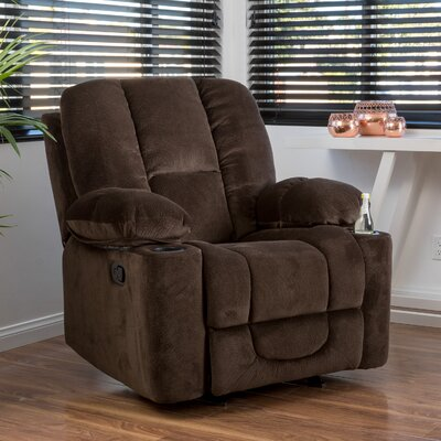 Eastlake Manual Glider Recliner Upholstery: Chocolate