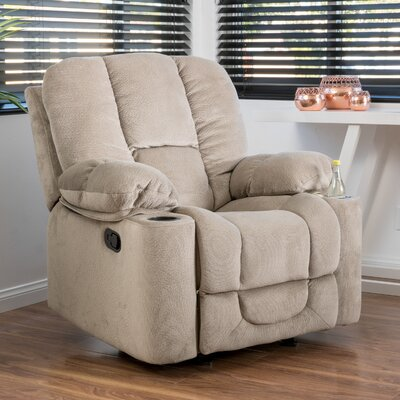 Eastlake Manual Glider Recliner Upholstery: Latte