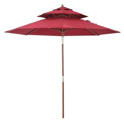 9 Market Umbrella Color: Burgundy
