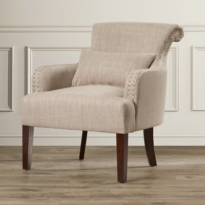 Louis Arm Chair Color: Light Brown